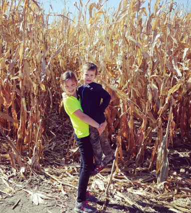 Picture of family in corn field