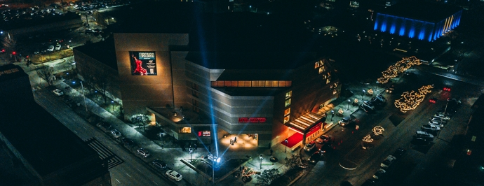 Aerial view of Lied Center in Lincoln, Nebraska