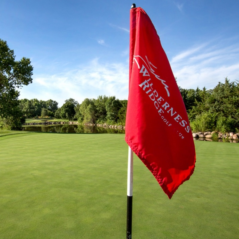 golf course flag